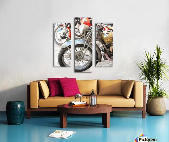 Moto Guzzi and BMW Front Wheels Canvas print