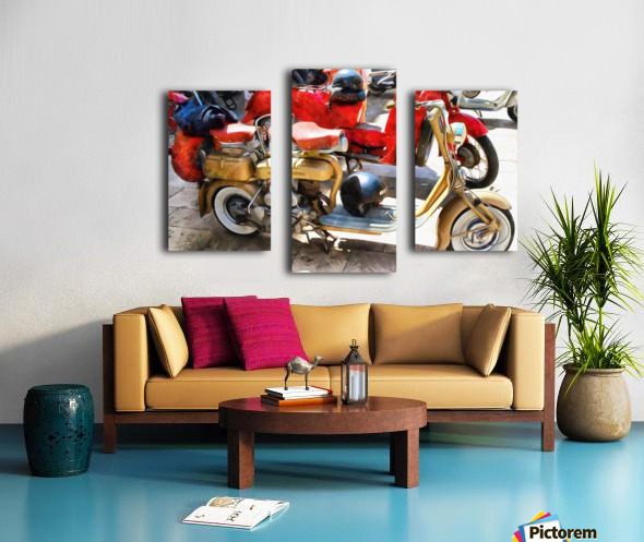 Make Mine a Lambretta Canvas print
