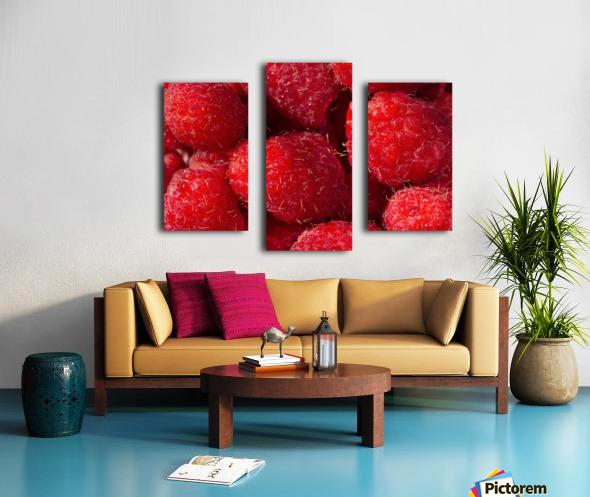 Raspberry leaf Canvas print