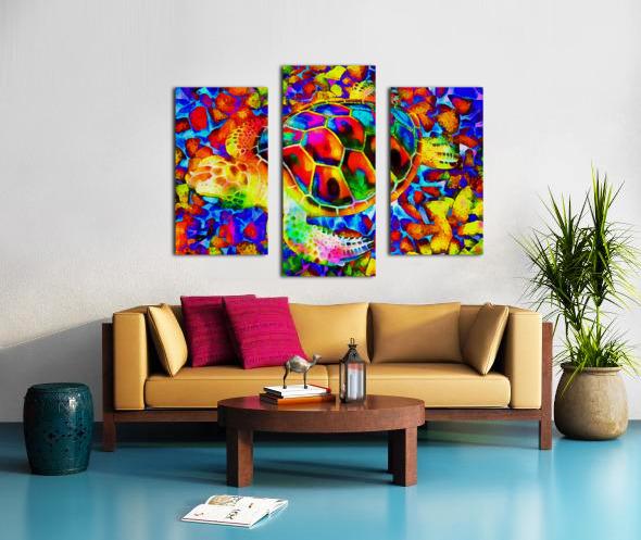 Rainbow Turtle Canvas print