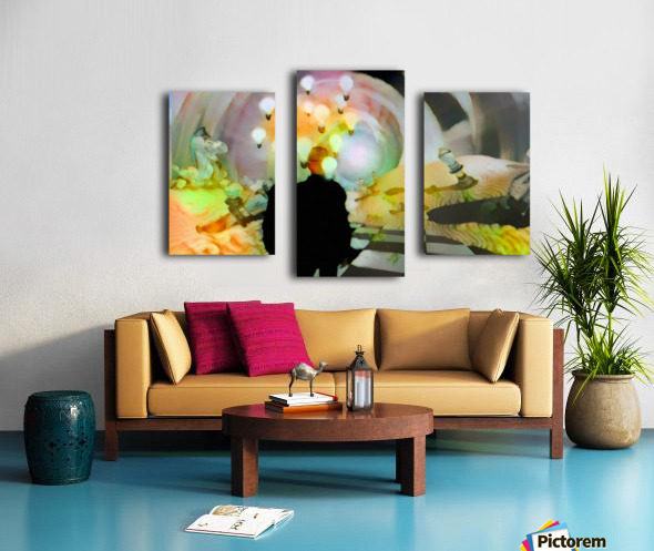 Man in Surreal Desert Canvas print
