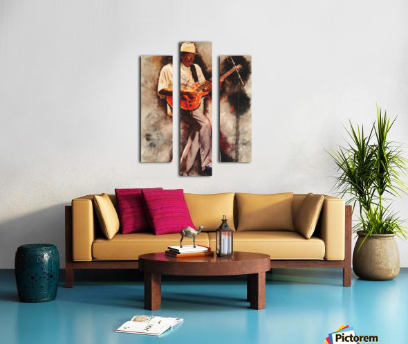 Carlos Santana Canvas print