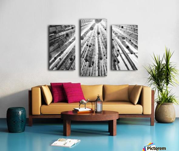 bamboo falling Canvas print