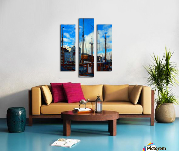 A Study in Masts Canvas print