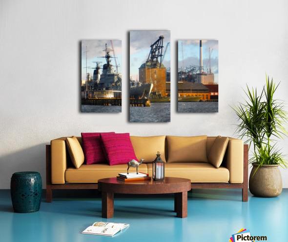 Ships at Holmen Canvas print