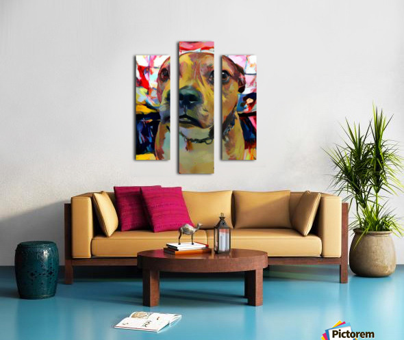 Dog Painting (5) Canvas print