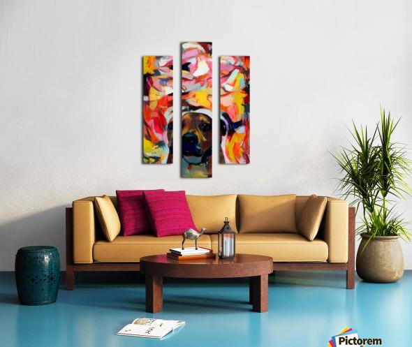 Dog Painting (10) Canvas print