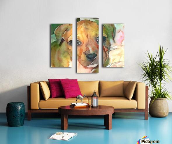 Dog Painting (20) Canvas print