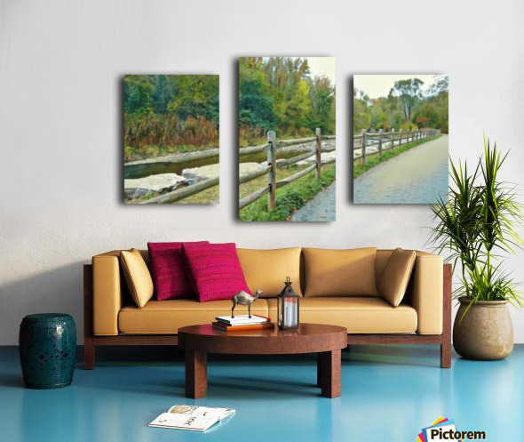 Original Landscape Painting No. 13 from The Billy Truong Art Collection Canvas print