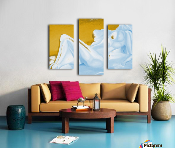 Ecstasy In Gold And Ice Canvas print