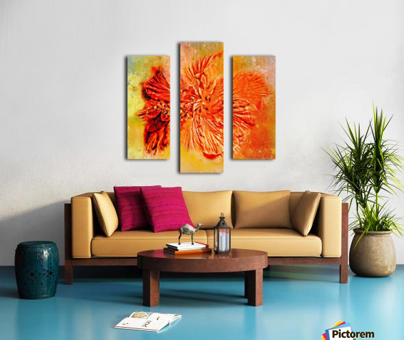 Tropical Hibiscus Floral Canvas print