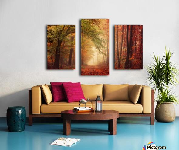 Colorful autumn forest Canvas print