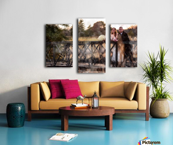 Scott and Stephanie: Color Canvas print