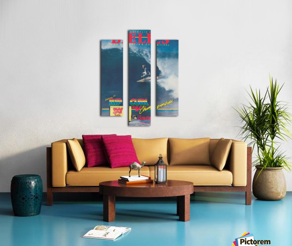 1983 RIP CURL BELLS BEACH EASTER Surfing Championship Competition Print - Surfing Poster Canvas print