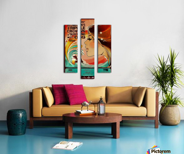 2009 Womens VANS TRIPLE CROWN OF SURFING Competition Poster Canvas print