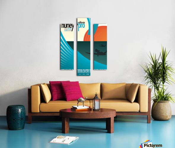 2012 HURLEY PRO TRESTLES Surf Competition Poster Canvas print