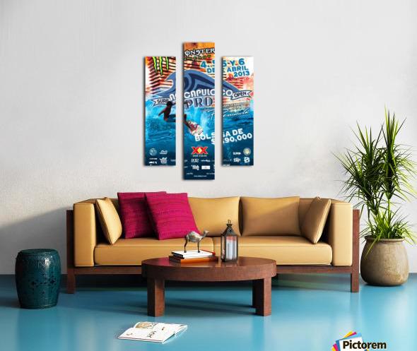 2013 ACAPULCO PRO Surf Competition Print Canvas print