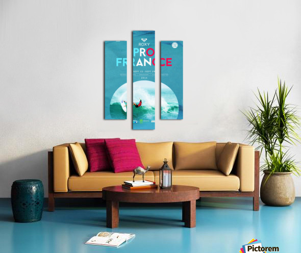 2014 ROXY PRO FRANCE Surfing Competition Poster Canvas print