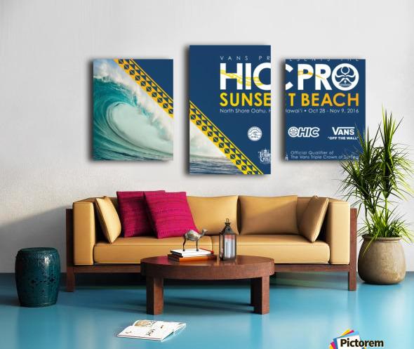2016 VANS HIC PRO SUNSET BEACH Competition Print Canvas print