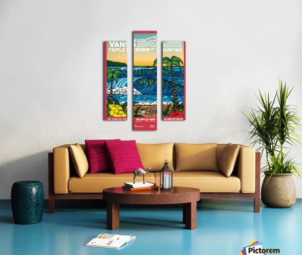 2017 VANS TRIPLE CROWN OF SURFING Competition Print Canvas print