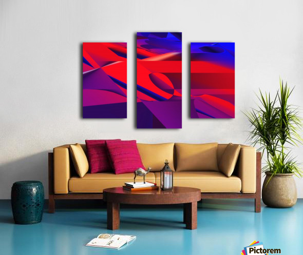 red and blue 0513a219 Canvas print