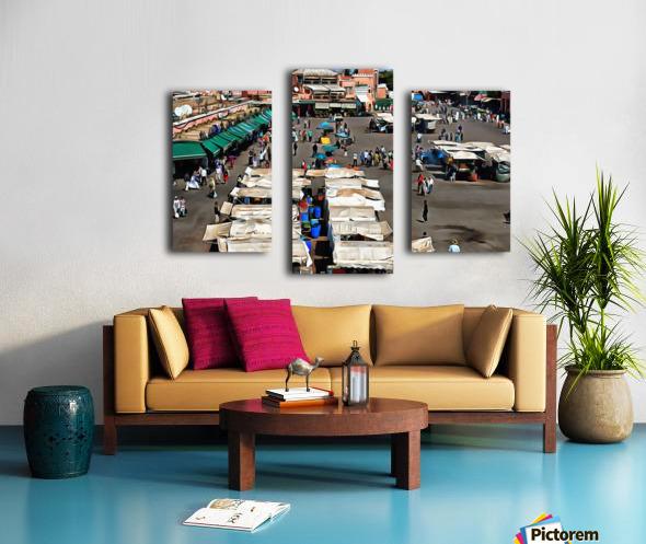 View Over Jemaa el Fnaa 1 Canvas print