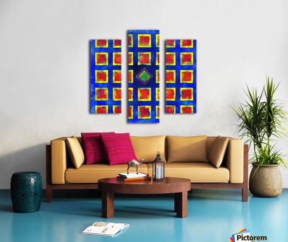 Verhomera - abstract cube worlds Canvas print