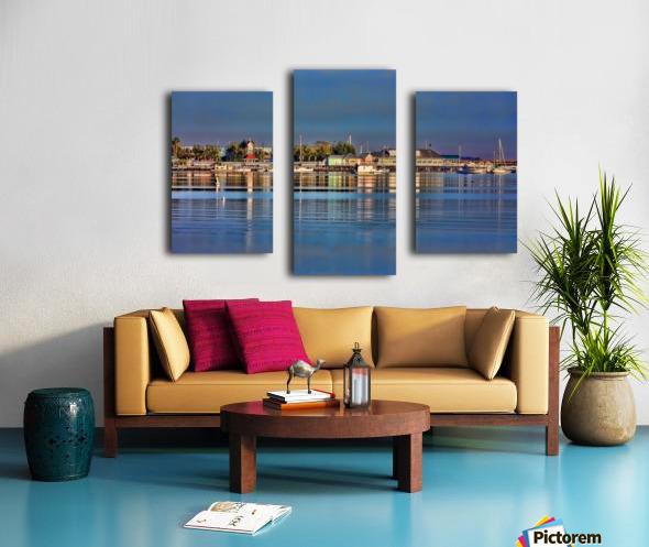 Bridge Street Waterfront Canvas print