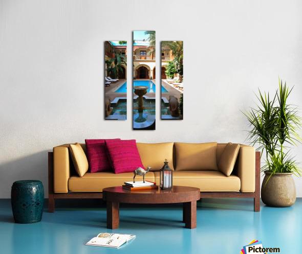 Riad Pool View Marrakesh Canvas print