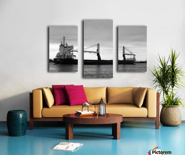 A Dark Ship and Dark Day 051219 Canvas print