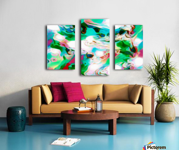Waterfall - multicolor abstract swirls Canvas print