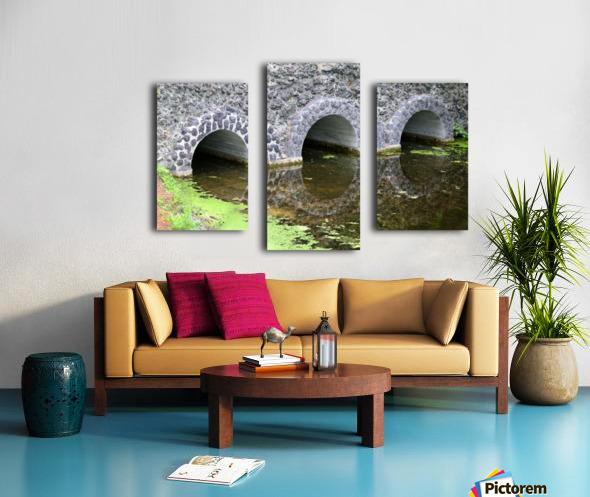Stone Bridge and Reflection 4 Dow Gardens 3 062618 Canvas print