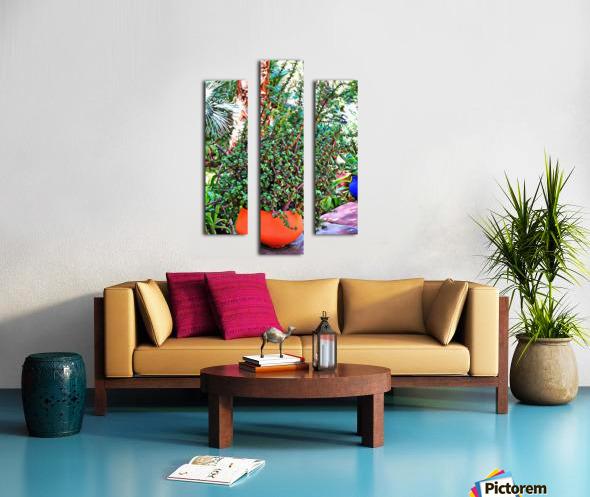 Colorful Plant Pots Marrakesh 10 Canvas print