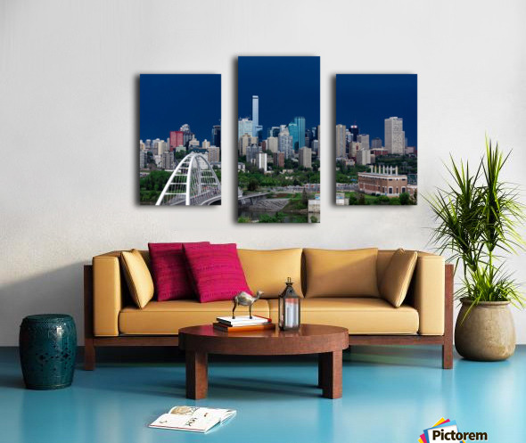 Edmonton Skyline & Thunderstorm... Canvas print