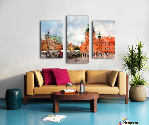 Warsaw city art Canvas print