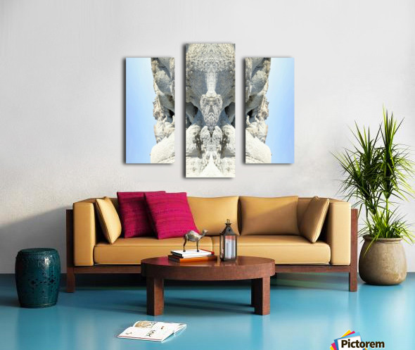 The White Monk  Canvas print