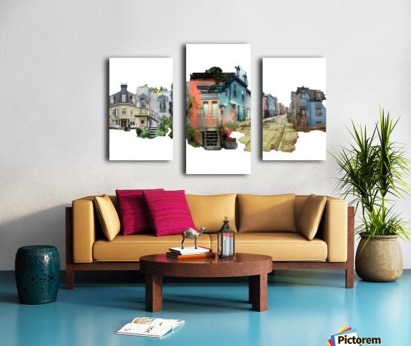 Maisons de Montréal Canvas print