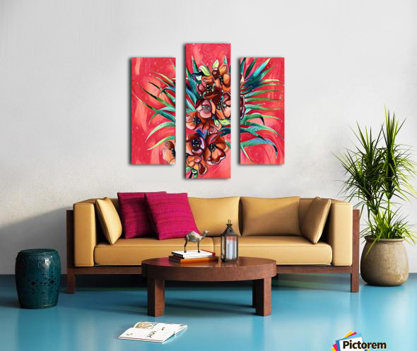 Vibrant Colors Tropical Floral Canvas print