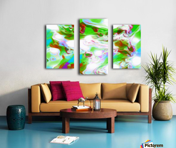 Green Glass Window - multicolor abstract swirls wall art Canvas print
