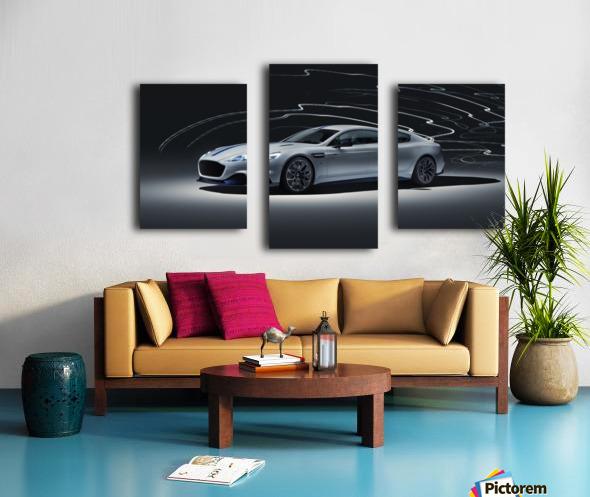 Aston martin rapid Car Canvas print