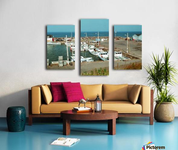 Low Tide - Canadian Harbour Canvas print