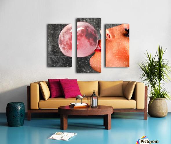 Moonalicious Canvas print