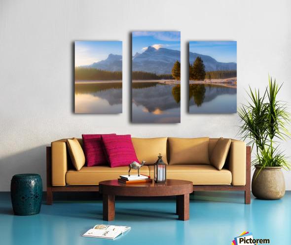 Two jack lake 2018 Canvas print