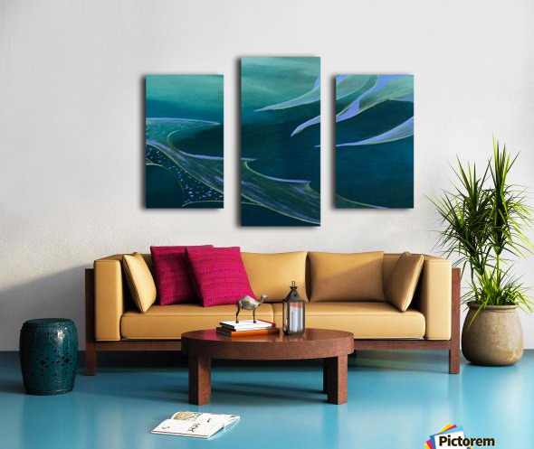 Teal Abstraction Canvas print