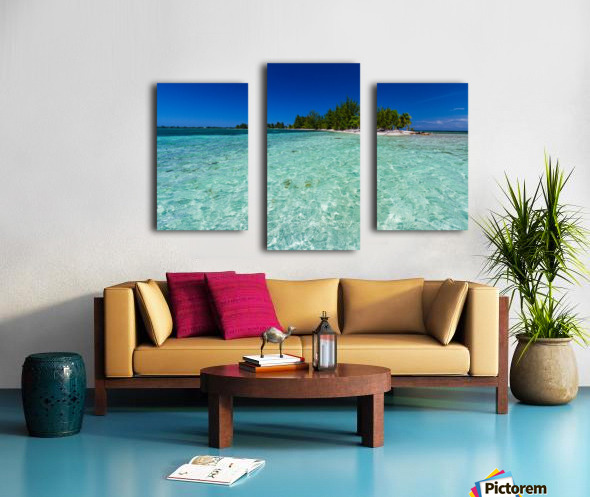 Tropical Cay Canvas print