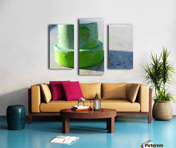 GREEN CAP Canvas print