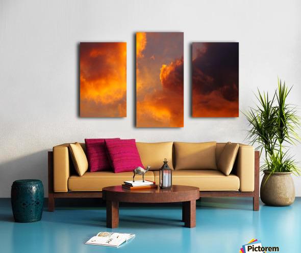 Golden Cloudscape 01 Canvas print
