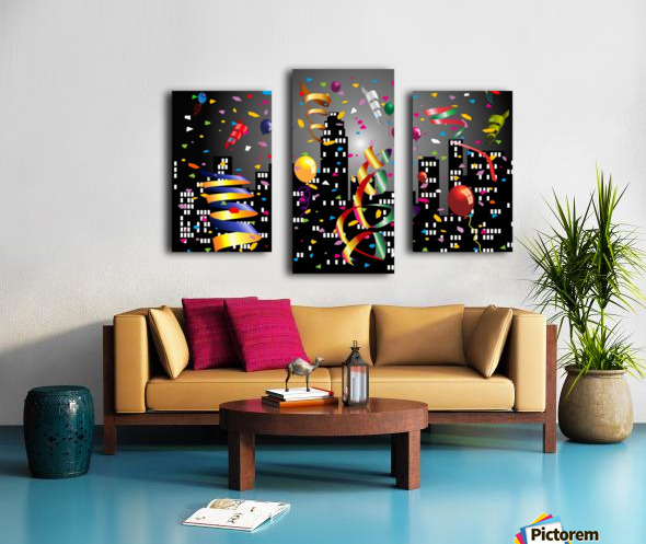 1-Nighttime Celebration in the Big City Canvas print