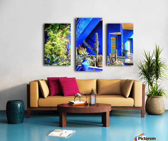 Cubist Villa Jardin Majorelle Marrakech Canvas print
