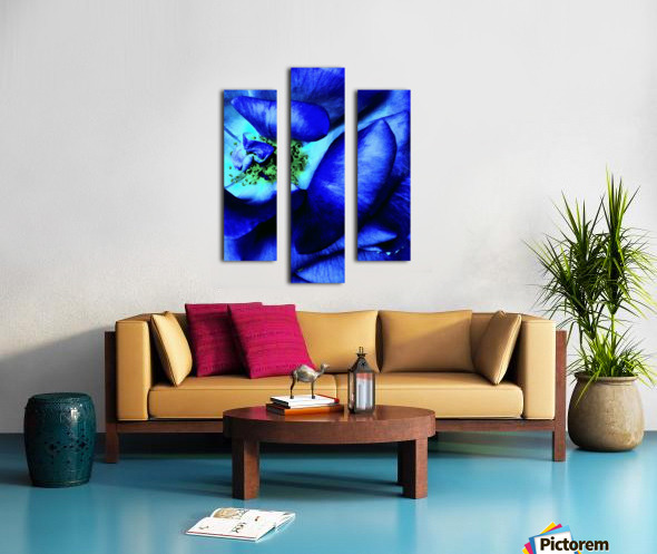 Art of the blue rose 3  Canvas print